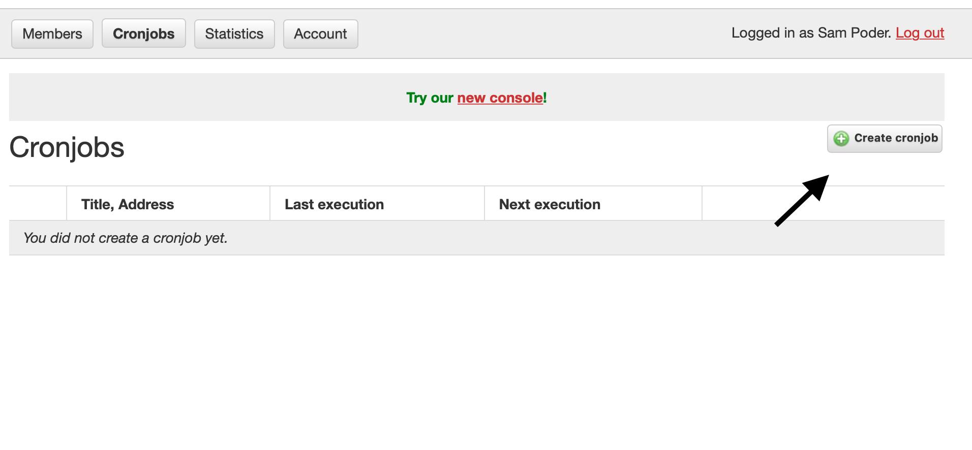 Create new button